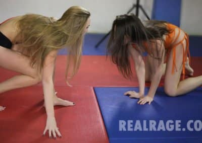 """OWNER OF THIS CONTENT: Real Rage Wrestling TITLE: Anna vs Kat - #1 GENRE: SCRIPTED Women's Mat Wrestling LENGTH: 11 minutes and 47 seconds long DATE RELEASED ON THIS WEBSITE: March 3rd 2018 COST TO DOWNLOAD/VIEW FOR ACTIVE MEMBERS: 25 percent off this video for logged in Legacy Members and 10 percent off this video for logged in 1 Year Members FILE SIZE: 829MB [gallery ids=""""12899,12900,12903""""]"""