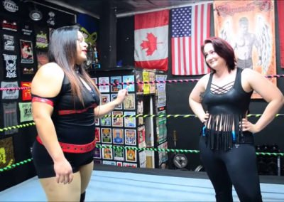 Ruby Raze vs Tab Jackson - BBW Female Wrestling!