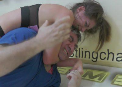 Rear Naked Choke - Callisto Strike vs Frank - Mixed Wrestling - 2018
