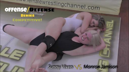 Sunny Vixen vs Monroe Jamison - OFFENSE/DEFENSE - 2019 - Bodyscissors