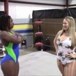 Malibu vs Ayoka Muharah - Ebony BBW Wrestling