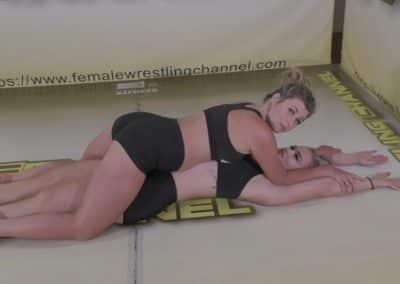 Full Body Press - Pins Challenge - #1 - Buffy Ellington vs Holly Hurt - The Female Wrestling Channel