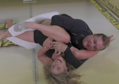 Buffy Ellington vs Sean - The Female Wrestling Channel