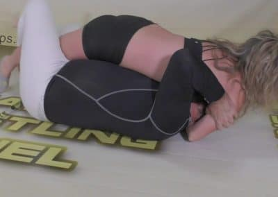 Breast Smother - Buffy Ellington vs Sean - The Female Wrestling Channel