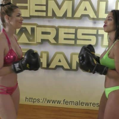 Boxing - Star Treatment - Part 2 - Eden Sins vs Sunny Vixen - Scripted Women's Wrestling