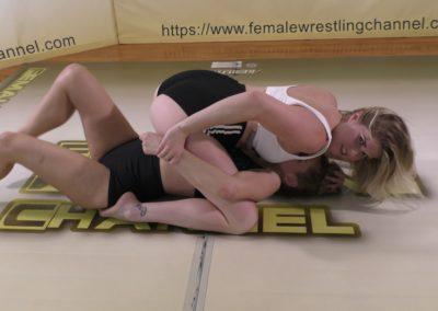 Breast Smother - Sunny Days - Monroe Jamison vs Sunny Vixen - Women's Wrestling Photoshoot - The Female Wrestling Channel