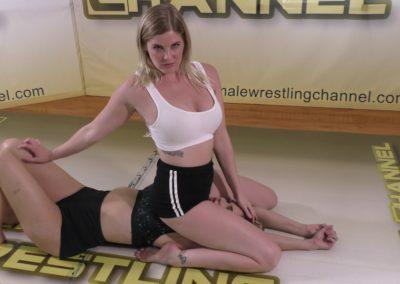 School Girl Pin - Sunny Days - Monroe Jamison vs Sunny Vixen - Women's Wrestling Photoshoot - The Female Wrestling Channel