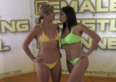 Staredown - When Babes Collide - Buffy Ellington vs Eden Sins - Women's Wrestling Photoshoot - The Female Wrestling Channel