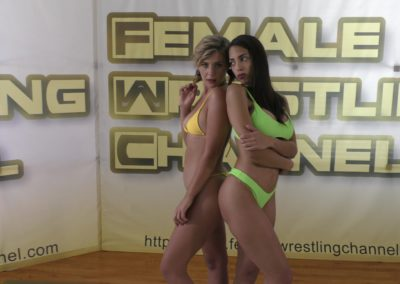 When Babes Collide - Buffy Ellington vs Eden Sins - Women's Wrestling Photoshoot - The Female Wrestling Channel