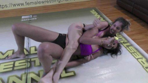 Bodyscissors - Sasha Subdue vs Sassy Kae - Real Competitive Women's Wrestling - The Female Wrestling Channel