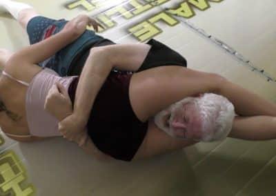 Reverse Headscissors - Offense/Defense - Buffy Ellington and Monroe Jamison vs Chuck - #2 - The Female Wrestling Channel