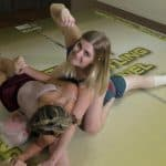 Crossbody Pin - Offense/Defense - Buffy Ellington and Monroe Jamison vs Chuck - #2 - The Female Wrestling Channel