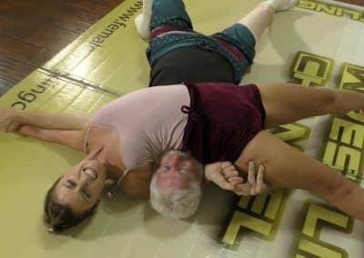 Crossbody Pin - Offense/Defense - Buffy Ellington and Monroe Jamison vs Chuck - #2 - The Female Wrestling Channel