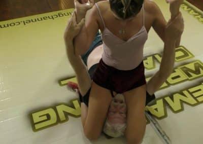 School Girl Pin - Offense/Defense - Buffy Ellington and Monroe Jamison vs Chuck - #2 - The Female Wrestling Channel