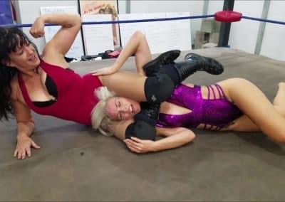 Figure Four Headscissors - Jezabel Romo vs Platinum Fury - UWW Women's Pro Wrestling