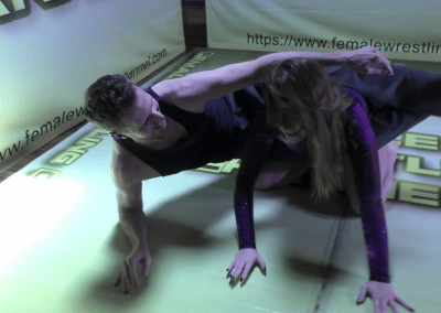 Kicking out the Rust - Astra vs Johnny - 2021 - Mixed Wrestling Bodyscissors