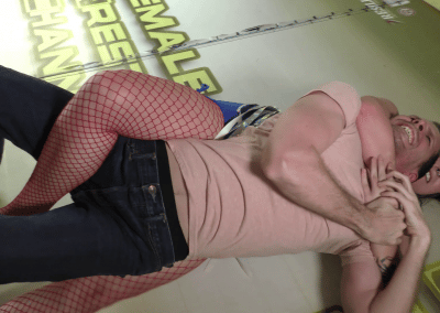 Rear Naked Choke - Offense/Defense - Astra Rayn vs Johnny Ringo - Real Mixed Wrestling - The Female Wrestling Channel